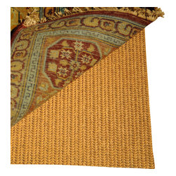 Safavieh - Padding Assorted Area Rug PAD120 - 5' x 8' - Ultra pad is made from a superior quality polyester fabric coated with a high-grade vinyl compound. It features superior grip strength which keeps rugs from sliding and slipping on hard surfaces. It also extends the life of rugs by providing a smooth, supportive base, while millions of tiny openings allow it to breathe. It can be easily cleaned with warm water and a mild detergent, rinsed and laid flat to dry. Ultra Pad is anti-microbial to inhibit the growth of odor-causing bacteria, mold and mildew and is fire-retardant and moth-proofed and can be custom cut to fit any rug size.