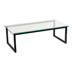 Flash Furniture - Flash Furniture Glass Coffee Table - FD-COFFEE-TBL-GG - Glass tables offer an elegant design for the home or office. The contemporary look of glass strikes the perfect balance between style and convenience. [FD-COFFEE-TBL-GG]