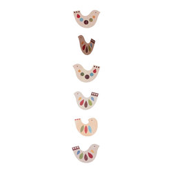 Tower of Birds Paper Strand Mobile - I love this multidimensional bird mobile. It's great for the baby's nursery and very affordable too!