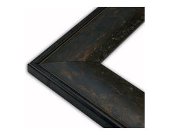 The Frame Guys - Worn Aged Copper Picture Frame-Solid Wood, 10x20 - *Worn Aged Copper Picture Frame-Solid Wood, 10x20