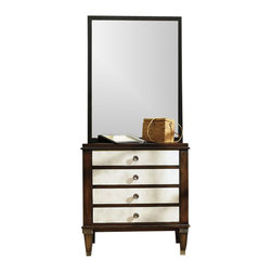 Hooker Furniture - E-Charge Center - 5277 - White glove, in-home delivery!  For this item, additional shipping fee will apply.  This E-Charge Center is crafted using poplar and hardwood solids with figured walnut veneers, shagreen leather and metal.
