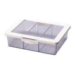 K Hagberg/M Hagberg - KRUS Jar with lid - Jar with lid, clear, white