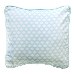 "New Arrivals Inc. - Sprout Throw Pillow, 16x16 - The Sprout Throw Pillow is made from Dream Oasis fabric with Taffeta in Ice Blue cording. Choose from 12"" by 16"" or 16"" by 16"" sizes."