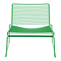 Hee Lounge Chair, Green - These are bright, colorful, attractive and hopefully comfortable chairs. I'd love to have these chairs in my yard for guests to sit around a fire pit and converse.