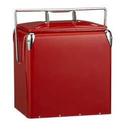 Red Picnic Cooler - I love the vintage feel of this piece! Just in case you need to keep it cold!