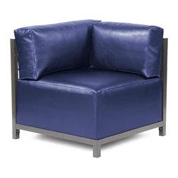 Howard Elliott - Howard Elliott Shimmer Sapphire Axis Corner Chair Slipcover - Axis corner chair shimmer sapphire slipcover