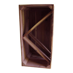 Wine Caddy, Oak, Bottle Storage - Crate style storage for wine bottles and the glasses.  One crate size 12x24, is set up for just bottle storage or hang glasses in along with a couple of bottles.