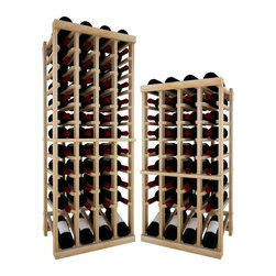 Wine Cellar Innovations - 4 Col Indv Top Stack w/Display; Vintner: Premium Redwood, Light Stain, 3 Ft - Each wine bottle stored on this four column individual bottle wine rack is cradled on customized rails that are carefully manufactured with beveled ends and rounded edges to ensure wine labels will not tear when the bottles are removed. This wine rack also has a built in display row. Purchase two to stack on top of each other to maximize the height of your wine storage. Moldings and platforms sold separately. Assembly required.