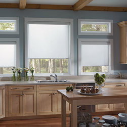 Roller Shades - Roller Shades are versatile and can be customized to suit any space. Available in a wide variety of colors, textures, and opaqueness.
