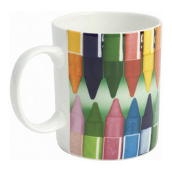 """Whitbread Wilkinson - Eames Crayons Coffee Mug - The Eames Crayons bone china coffee mug is sure to delight arts and crafts fans as well as design lovers. A cheerful homeware accessory, the colorful crayons are sure to inspire and add a pop of color to your decor. Designed in partnership with Eames Office. Bone china. Dishwasher and microwave safe. Dimensions: Ht: 3.75"""" (9.5cm) x D: 3.15"""" (8cm)."""