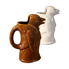 BoBo's Intriguing Objects - Penguin Pitcher, Brown - This well-dressed penguin butler knows how to serve with style and charm. Based on an Argentinian wine jug, he'd make a great addition to a dinner party, or a favorite part of the breakfast table serving milk or coffee.