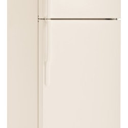 """GE - GTH18CBECC 28"""" 18.1 Cu. Ft. Top-Freezer Refrigerator With Adjustable Wire Shelve - This top freezer refrigerator was made to help you organize The adjustable wire shelves can be adjusted to make room for the larger groceries or even larger pots The can storage door shelf puts all your canned drinks in one convenient location"""