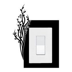 StickONmania - Lightswitch Plants #7 Sticker - A vinyl sticker decal to decorate a lightswitch.  Decorate your home with original vinyl decals made to order in our shop located in the USA. We only use the best equipment and materials to guarantee the everlasting quality of each vinyl sticker. Our original wall art design stickers are easy to apply on most flat surfaces, including slightly textured walls, windows, mirrors, or any smooth surface. Some wall decals may come in multiple pieces due to the size of the design, different sizes of most of our vinyl stickers are available, please message us for a quote. Interior wall decor stickers come with a MATTE finish that is easier to remove from painted surfaces but Exterior stickers for cars,  bathrooms and refrigerators come with a stickier GLOSSY finish that can also be used for exterior purposes. We DO NOT recommend using glossy finish stickers on walls. All of our Vinyl wall decals are removable but not re-positionable, simply peel and stick, no glue or chemicals needed. Our decals always come with instructions and if you order from Houzz we will always add a small thank you gift.