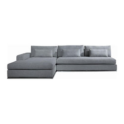 VIG Furniture - C08 Grey Microfiber Fabric Sectional Sofa - The C08 sectional sofa will be a great addition for any modern themed living room decor. This sectional comes upholstered in a beautiful grey microfiber fabric. High density foam is placed within the cushions for added comfort. The sectional features a simple look but will have you relaxing in style.