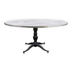 "Kingston Krafts - ""Francesca"" Zinc Top Round Dining Table, 42 Inch Diameter - ""The Francesca Round Zinc Dining Table"" by Kingston Krafts!"