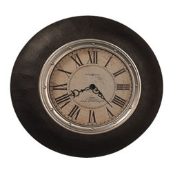 "Howard Miller - Howard Miller Faux Leather 32"" Wall Clock 