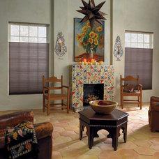 Mediterranean Living Room by Blinds.com