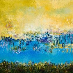 Tracy Lynn Pristas Original - Textured Oil Paintings By Tracy Lynn Pristas - Echo Of Luminous Memories / Oil on Canvas / 42 x 44 / 2013