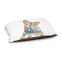 """DiaNoche Designs - Dog Pet Bed Fleece - French Bulldog - DiaNoche Designs works with artists from around the world to bring unique, designer products to decorate all aspects of your home.  Our artistic Pet Beds will be the talk of every guest to visit your home!  BARK! BARK! BARK!  MEOW...  Meow...  Reallly means, """"Hey everybody!  Look at my cool bed!""""  Our Pet Beds are topped with a snuggly fuzzy coral fleece and a durable underside material.  Machine Wash upon arrival for maximum softness.  MADE IN THE USA."""