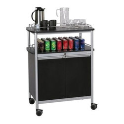 hold refreshments or other beverages, while the locking lower cabinet ...