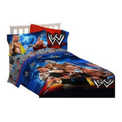WWE - Wrestling Champions Bedding Set - Your rough and tumble little guy is going to love this WWE - Wrestling Champions Bedding Set. This World Wrestling bedding set comes with just the comforter or you can do a total bedroom makeover by adding on any of the matching extras. The sheet set, pillow shams, decorative pillows, and blanket are sold separately and make the look complete. The bedding set is made durable, soft, and machine-washable.About Franco Manufacturing:Family-owned and founded in 1952, Franco Manufacturing is currently in its third generation of bringing quality textile products into consumers' homes. It began with a single product, and today has expanded into one of the top U.S.-based home textile companies, with offices around the world. Their dedication to using the best materials and providing the best customer service have cemented their place as an industry leader.