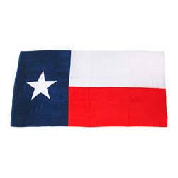 Zeckos - Texas Flag Beach Towel 60 Inches x 30 Inches Texan Lone Star - This awesome red, white and blue terrycloth beach towel features a Texas flag design. The towel measures 60 inches long, 30 inches wide, with sewn edges to prevent fraying. It makes a great gift for folks who are proud of their Texan heritage.