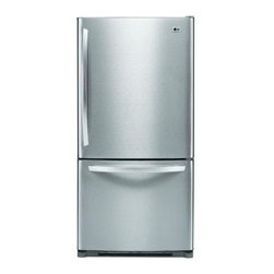 LG Electronics - LG Electronics Refrigerator. 22.4 cu. ft. Bottom Freezer Refrigerator in Stainle - Shop for Appliances at The Home Depot. The LG Electronics 22.4 cu. ft. Bottom Freezer Refrigerator utilizes multi-airflow technology to vent cold air on each shelf, helping create uniform temperatures throughout the refrigerator compartment. The refrigerator's factory-installed icemaker conveniently produces cubed ice for your family's needs, while an IcePlus feature offers accelerated freezing to provide increased ice production and to lock in the freshness of your frozen foods. The refrigerator's bottom-freezer design offers convenient accessibility to frequently-used foods.