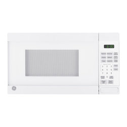 GE - GE 0.7-cubic Foot Countertop Microwave Oven - This GE countertop microwave comes in a brilliant white finish and features a 0.7-cubic foot capacity. Practical settings include a kitchen timer,control lockout,instant on controls and defrost.