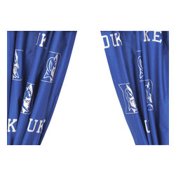 College Covers - NCAA Duke Blue Devils Collegiate Window Curtain Panels - Features: