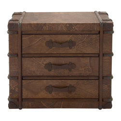 Coolly Different Wood Polyurethane Leather Chest - Description: