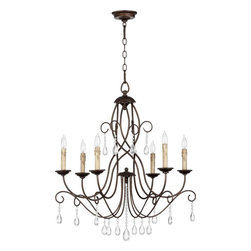 Joshua Marshal - Six Light Oiled Bronze Up Chandelier - Six Light Oiled Bronze Up Chandelier