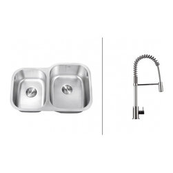 Ruvati - Ruvati RVC2511 Stainless Steel Kitchen Sink and Chrome Faucet Set - Ruvati sink and faucet combos are designed with you in mind. We have packaged one of our premium 16 gauge stainless steel sinks with one of our luxury faucets to give you the perfect combination of form and function.