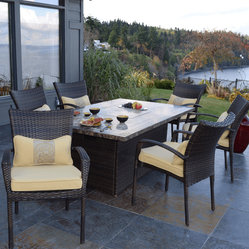 Outdoor Innovation South Beach 7-Piece Fire Dining Set