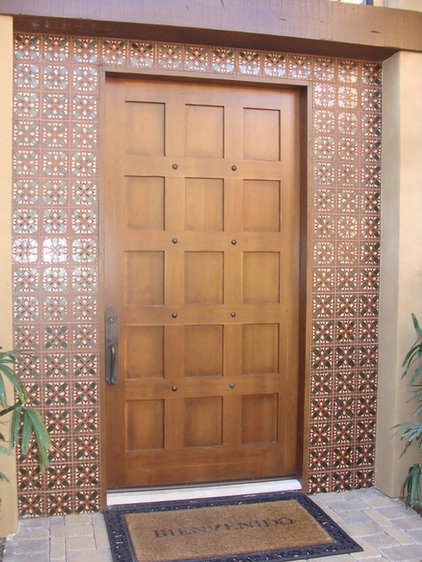 Mediterranean Front Doors by Metolius Ridge Tile, Inc