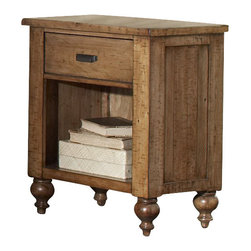 Riverside Furniture - Riverside Furniture Summer hill 1 Drawer Nightstand in Canby Rustic Pine - Riverside Furniture - Nightstands - 91669 - Riverside's products are designed and constructed for use in the home and are generally not intended for rental, commercial, institutional or other applications not considered to be household usage.