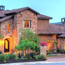 Traditional Landscape by Capstone Custom Homes