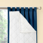 None - Season Smart Thinsulate Insulating Curtain Liner Pair - This one-of-a-kind,detachable liner offers a superior blend of home fashion and energy-saving benefits for the home. The white diamond quilting offers insulation and provides a decorative surface for the curtain back.