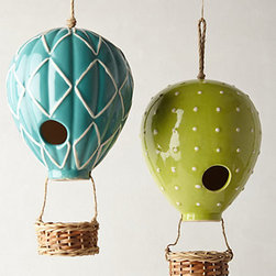 Air Balloon Birdhouse - I love this quirky twist on the birdhouse. If I were going to have one in my backyard, it would be one of these. They are too cute!