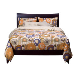 SIS Covers - SIS Covers Enchanted Maze Duvet Set - 6 Piece Queen Duvet Set - 5 Piece Twin Duvet Set Duvet 67x88, 1 Std Sham 26x20, 1 16x16 dec pillow, 1 26x14 dec pillow. 6 Piece Full Duvet Set Duvet 86x88, 2 Std Shams 26x20, 1 16x16 dec pillow, 1 26x14 dec pillow. 6 Piece Queen Duvet Set Duvet 94x98, 2 Qn Shams 30x20, 1 16x16 dec pillow, 1 26x14 dec pillow. 6 Piece California King Duvet Set Duvet 104x100, 2 Kg Shams 36x20, 1 16x16 dec pillow, 1 26x14 dec pillow6 Piece King Duvet Set Duvet 104x98, 2 Kg Shams 36x20, 1 16x16 dec pillow, 1 26x14 dec pillow. Fabric Content 1 100 Polyester, Fabric Content 2 100 Polyester, Fabric Content 3 100 Polyester. Guarantee Workmanship and materials for the life of the product. SIScovers cannot be responsible for normal fabric wear, sun damage, or damage caused by misuse. Care instructions Machine Wash. Features Reversible Duvet and Shams.