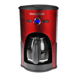 Programmable Coffee Maker, Red