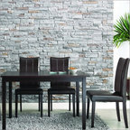 """Wholesale Interiors - Baxton Studio Eugene 5 Piece Dining Set - The Eugene Dining Set's small size is perfect for apartments or breakfast nooks and when paired with the contemporary chairs, an elegant yet simple dining solution is the result. Sturdy wood construction on both the table and chairs is finished with a beautiful rich dark brown stain and veneer. Comfortable foam cushioning and smooth dark brown faux leather on the chairs completes your new dining area. Features: -Set includes 1 dining table and 4 chairs. -Dark Brown finish. -Rubber wood and veneer construction. -Modern style. -Dark brown faux leather seats. -Polyurethane foam seat cushioning. Dimensions: -Overall Table Dimensions: 48""""W x 30""""D x 29"""" H. -Overall Chair Dimensions: 17""""W x 21""""D x 38"""" H. -Seat Height: 18""""."""