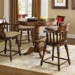 Liberty Furniture - Liberty Furniture Crystal Lakes 3 Piece Pub Set in Toffee Finish - Crystal Lakes Dining offers a relaxed country charm. Dress it up or keep it more casual with table linens. Table options abound with this collection so there is a choice for a small kitchenette area or a dining room.Collection Features: Swivel BarstoolsNylon Chair GlidesDistressed FinishBarstools Available in Two Finishes