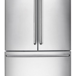"""Electrolux - IQ-Touch EI28BS80KS 36"""" 27.8 cu. ft.Standard-Depth French-Door Refrigerator  IQ- - This 36 278 cu ft standard-depth French-door refrigerator comes with IQ-touch electronic controls luxury-design glass shelves sabbath mode and Energy Star qualification all in a beautiful stainless steel finish"""