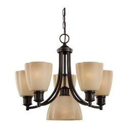 Sea Gull Lighting - Kitchen Chandelier - This Up Chandelier has a Bronze Finish and is part of the Century Collection.