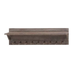 """BZBZ92326 - Wall Shelf Hook in Versatile Design for Different Home Setup - Wall Shelf Hook in Versatile Design for Different Home Setup. Symbolizing simplicity and elegance, the wood wall shelf hook flaunts a versatile design that blends with different home setups. It comes with the following dimensions 30"""" W x 7"""" D x 8"""" H."""