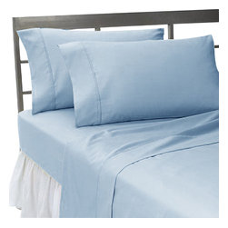 1000Tc Blue King Size Sheet Set- 100% Egyptian Cotton - We offer supreme quality Egyptian Cotton bed linens with exclusive Italian Finishing. These soft, smooth and silky high quality and durable bed linens come to you at a very low price as these come directly from the manufacturer. We offer Italian finish on Egyptian cotton, which makes this product truly exclusive, and owner's pride. It's an experience and without it you are truly missing the luxury and comfort!