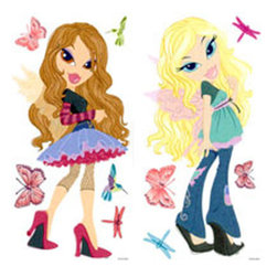 Brewster Home Fashions - Bratz Fashion Pixies 11pc Large Wall Accent Sticker Set - FEATURES: