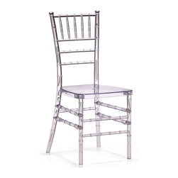 Zuo Modern - Zuo Modern Diamond Modern Dining Chair - A modern take on a classical shape and structure, the Diamond dining chair unites every classical dining room into the modern age. Made of clear polycarbonate.