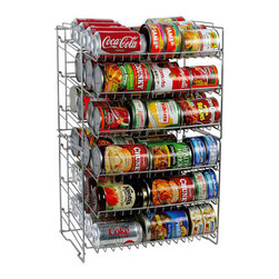 Atlantic 6-Shelf Can Rack, Silver - Store all of your canned foods conveniently on a rack.