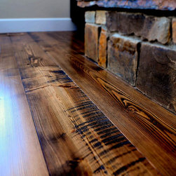 Douglas Fir Flooring - Prefinished circular sawn Doug Fir flooring